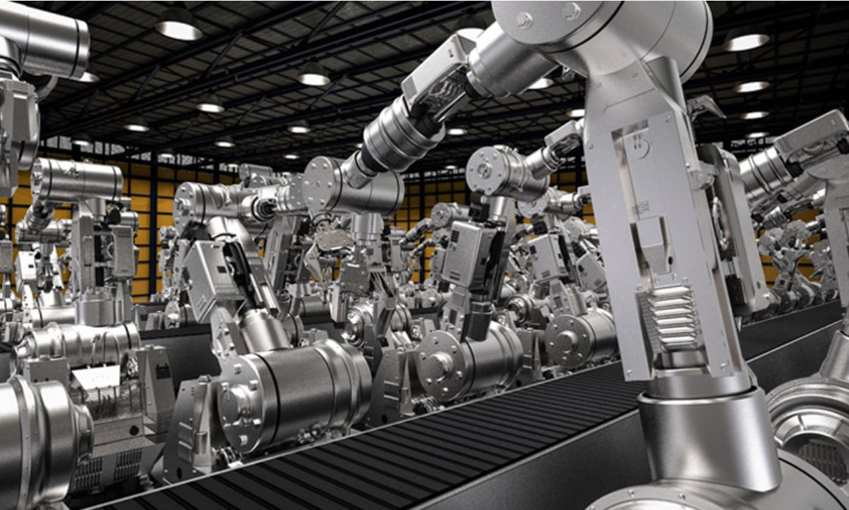 Máy móc công nghiệp hiện đại được sử dụng rộng rãi tại các doanh nghiệp