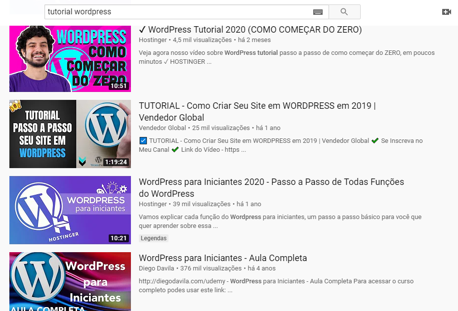 tutoriais wordpress