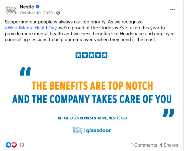 Nestle Welfare and Team Unity