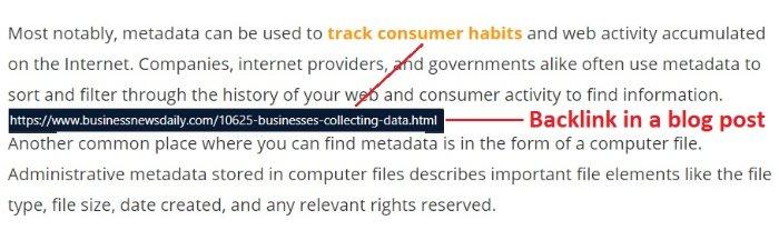 một liên kết ngược là một URL trỏ đến một miền khác