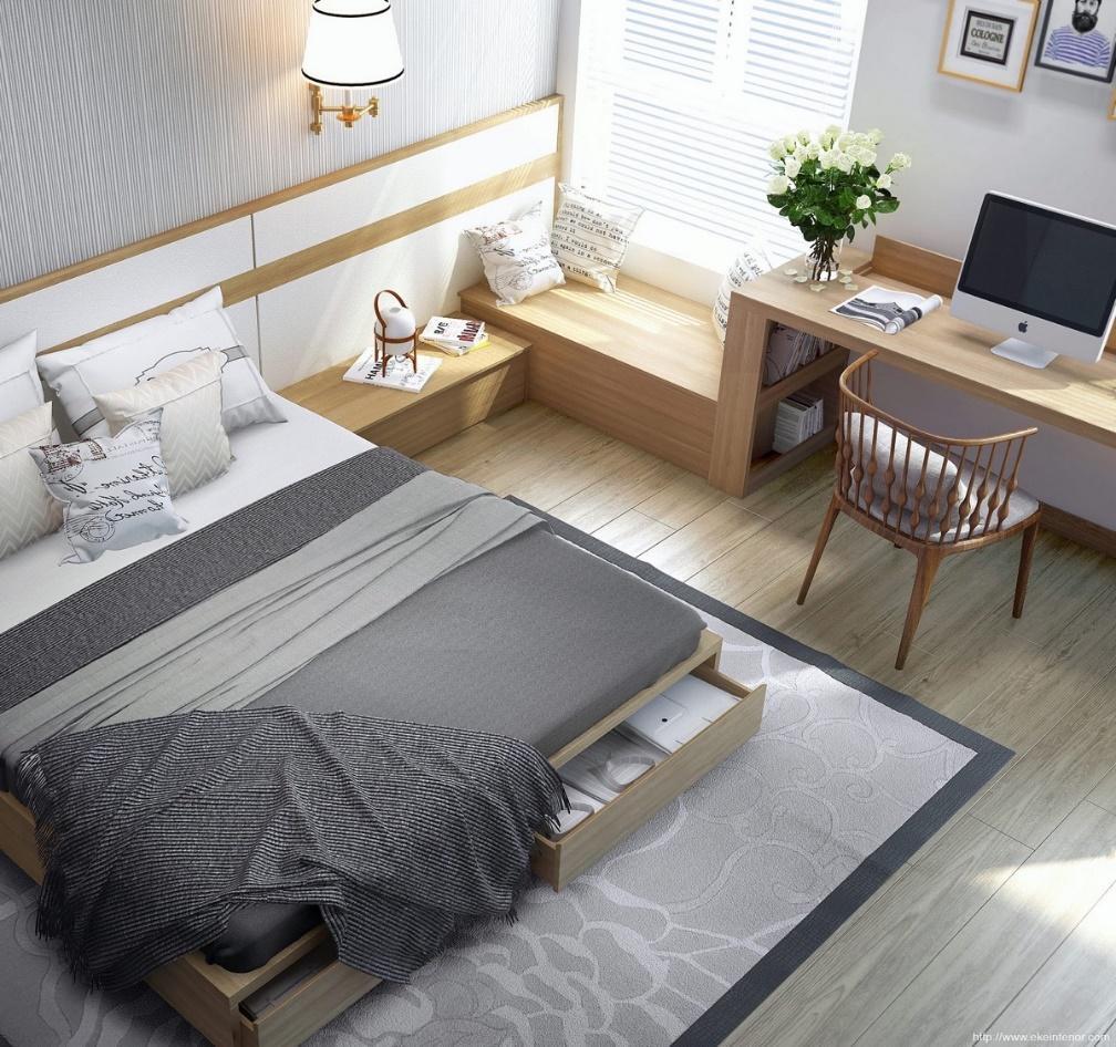 Desain Kamar Tidur Minimalis – source: www.home-designing.com