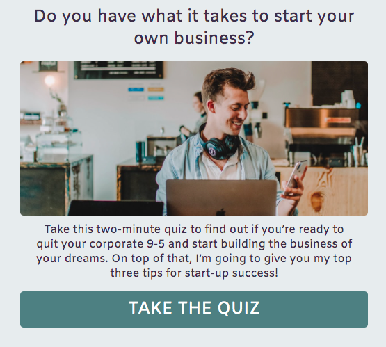 quiz cover for do you have what it takes to start a business