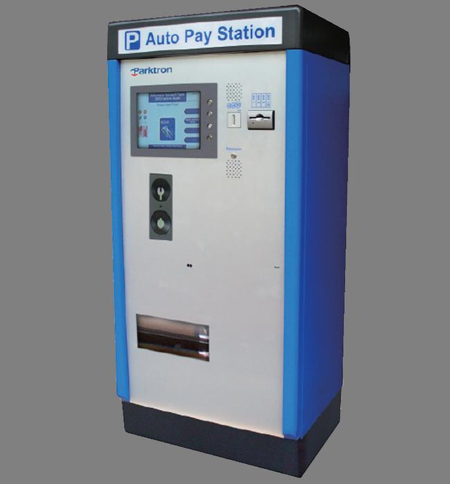 PARKTRON CAPS209 - Estacion de pago Automatico ATM/ Chipcoin Mifare / Acepta billetes y monedas / Impresion de TICKET / Sobrepedido