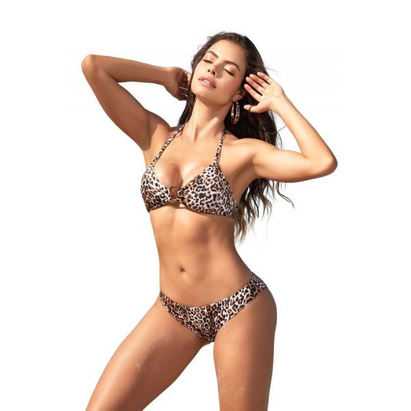 Mapale Animal Print Two Piece Ring Detail Swimsuit