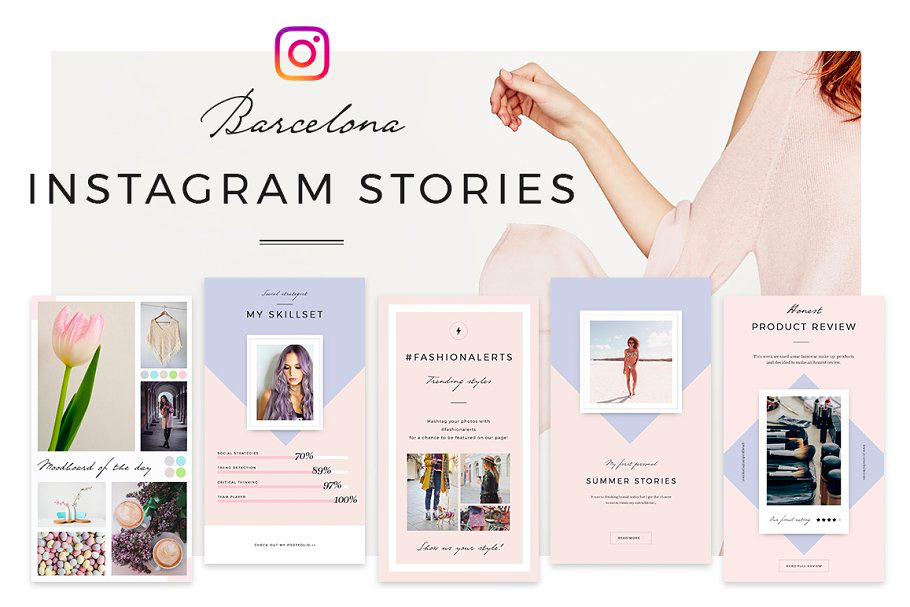 Barcelona Instagram Stories Templates