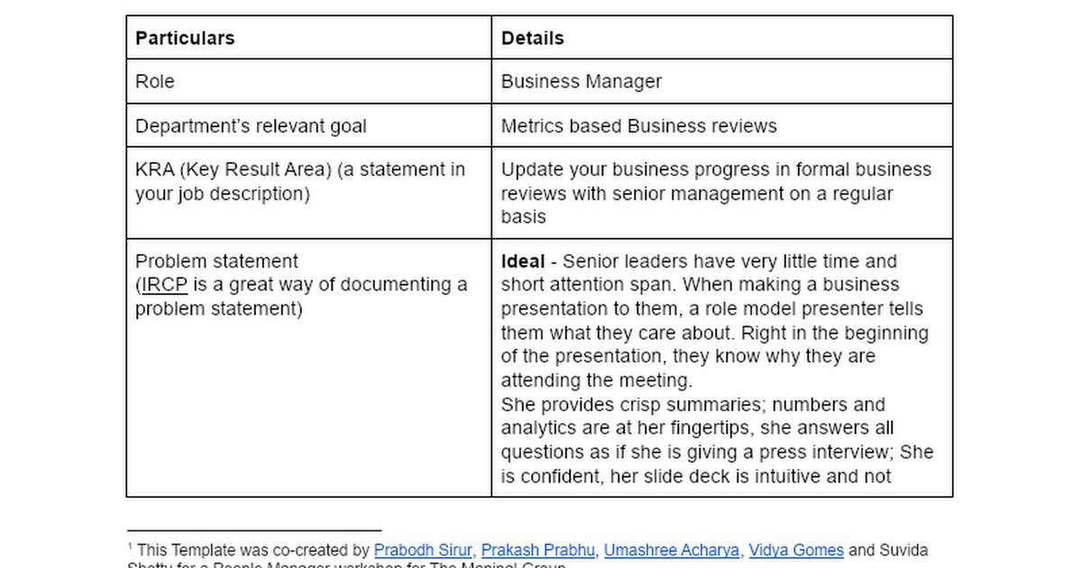 KPI for Business Manager - Effective Business Presentation