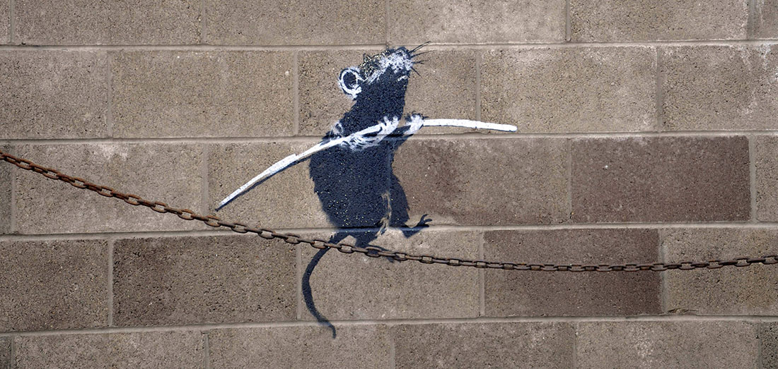 Banksy - Rat on a Chain