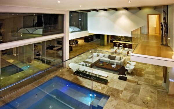 Dosis arquitectura septiembre 2012 House with swimming pool in living room