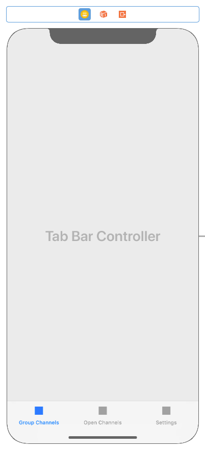 Now there are three tab bar items