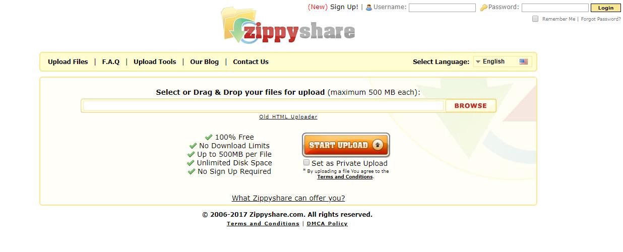 Zippyshare: File sharing site