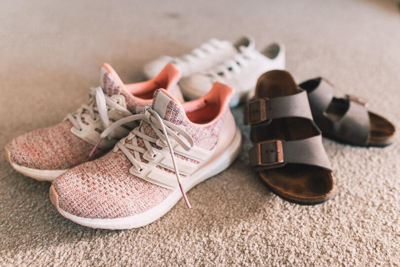 Adidas Ultraboost Birkenstock Converse Chuck Taylor Travel Shoes