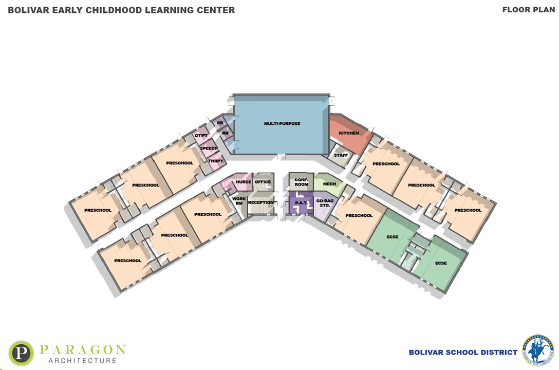 Map of ECLC building.