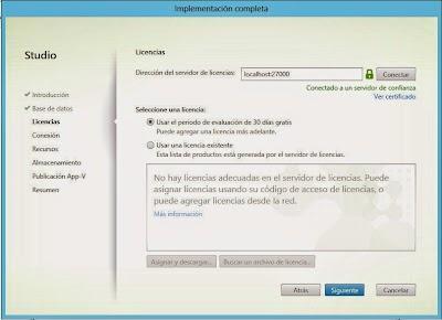 Conexión con el servidor de licencias