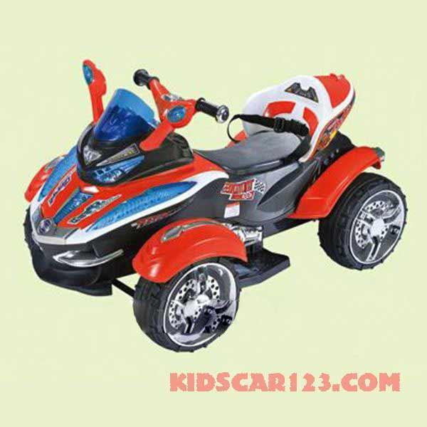 xe mô tô điện 4 bánh HC -1058 màu cam