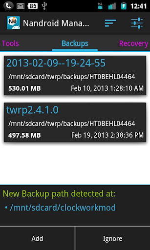 Nandroid Manager * ROOT apk