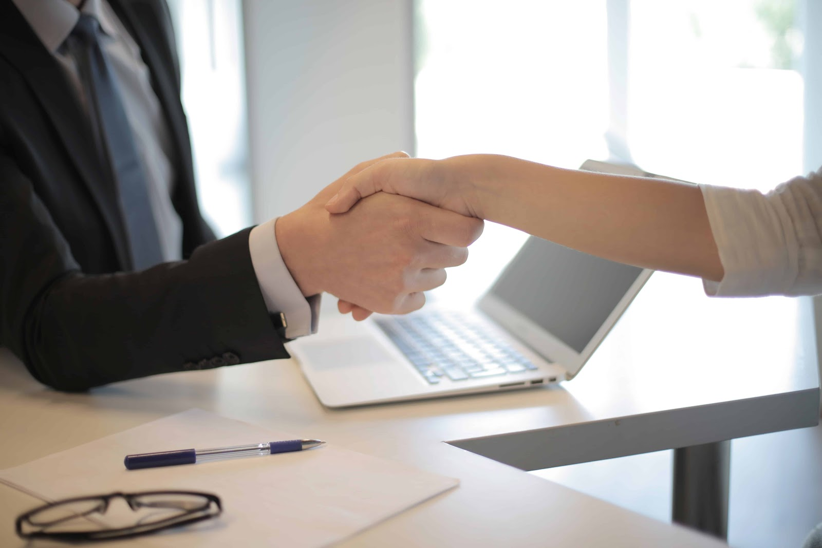 Business Partners In A Premium Virtual Office