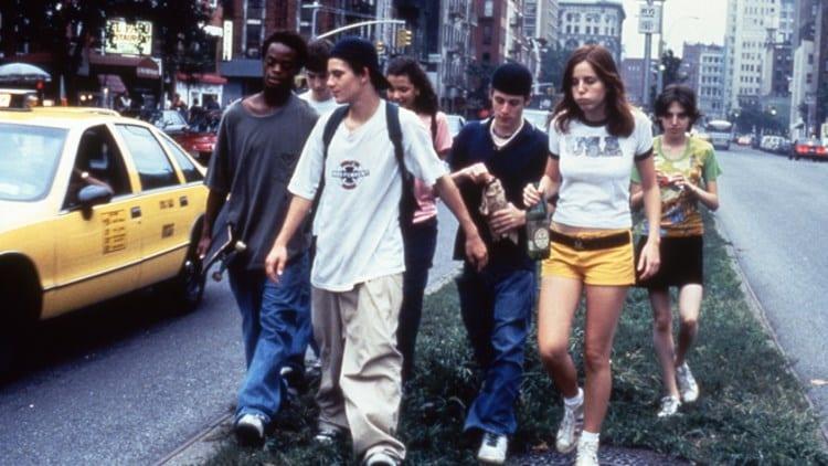 a gang of skateboarders in New York in Larry Clark's Kids