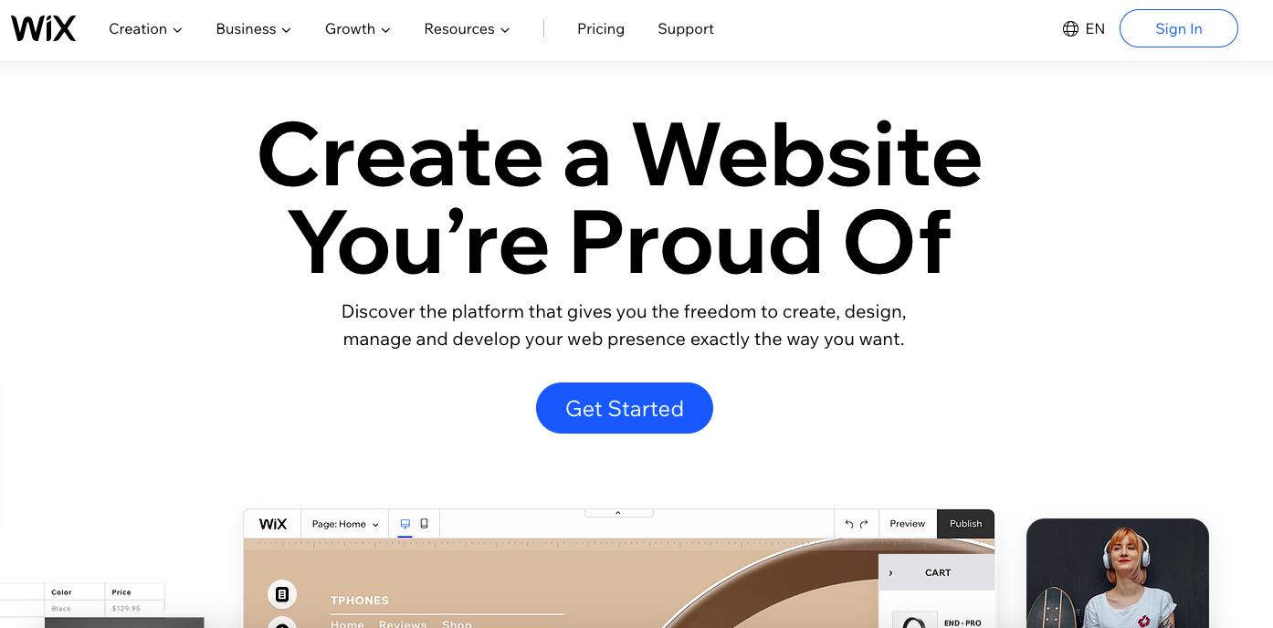 best free blogging platform wix
