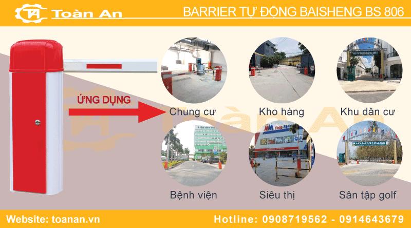 Một số mô hình quản lý sử dụng thanh chắn barrier baisheng bs 806.