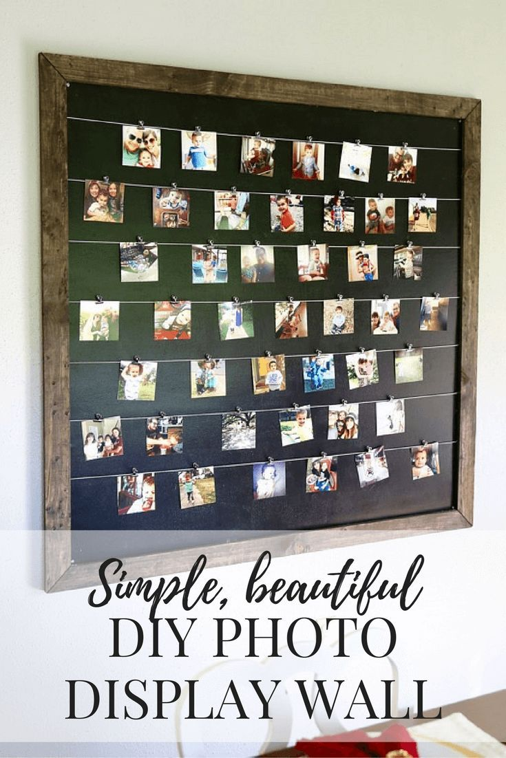 Design A Photo Board in your blank wall