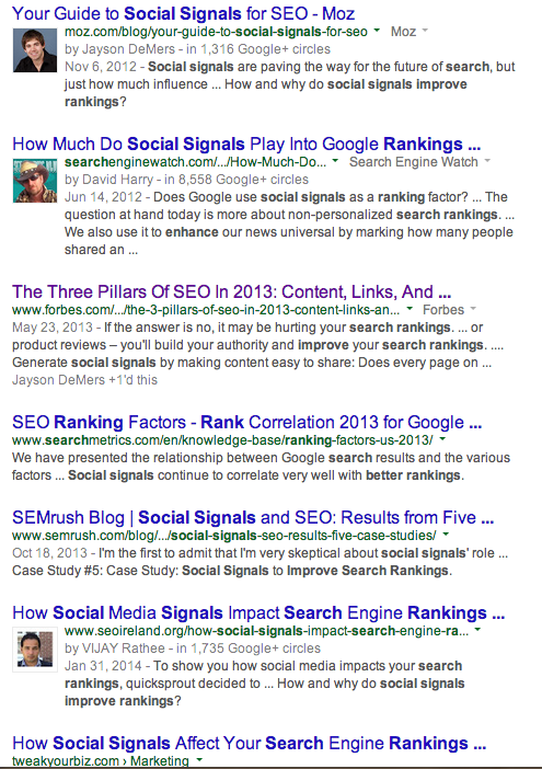 social signals improve search ranking - Google Search 2014-04-09 08-02-03