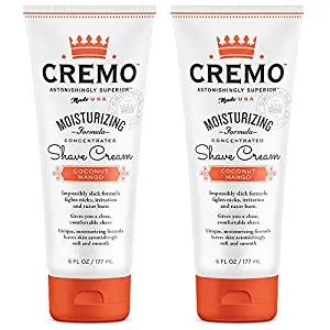4. Cremo Coconut Mango Moisturizing Shave Cream
