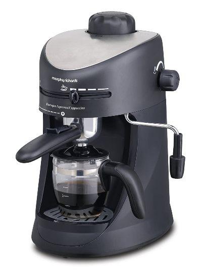 Morphy Richards 800-Watt Espresso and Cappuccino 4-Cup Coffee Maker