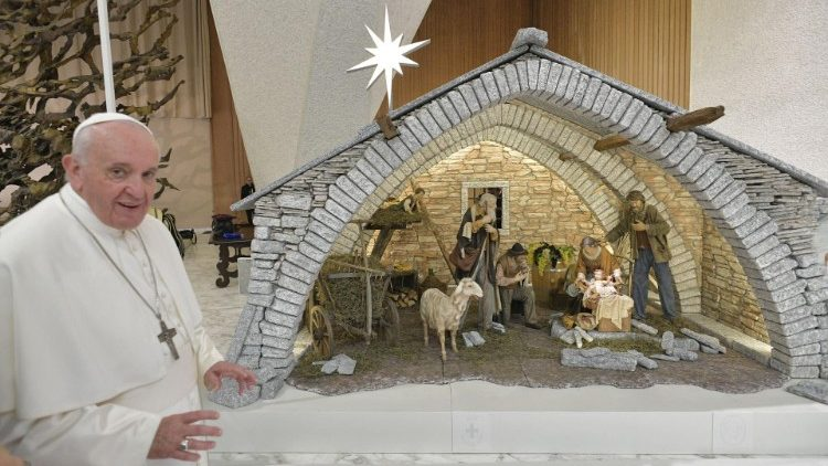 Đức Thánh Cha cảm ơn các nhà tài trợ cây Thông Giáng sinh và cảnh Chúa giáng sinh tại Vatican