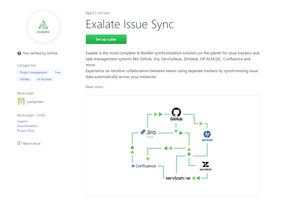 exalate for github issue sync
