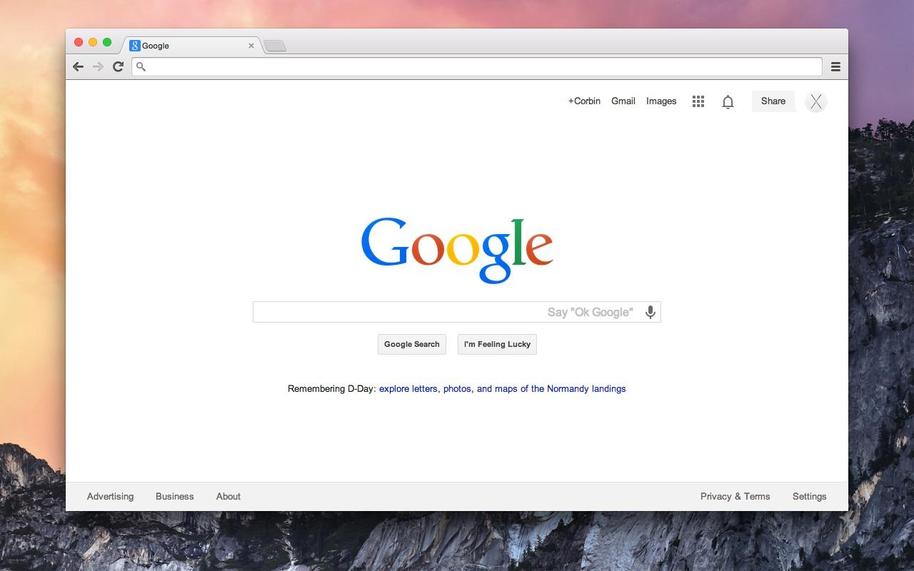 Google chrome themes yosemite - Yosemite Screenshot