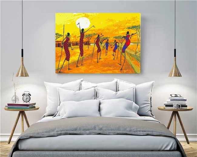 Malen nach Zahlen Afrika Kunst
