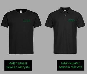 Miesten tekniset paidat Märynummi tekstillä
