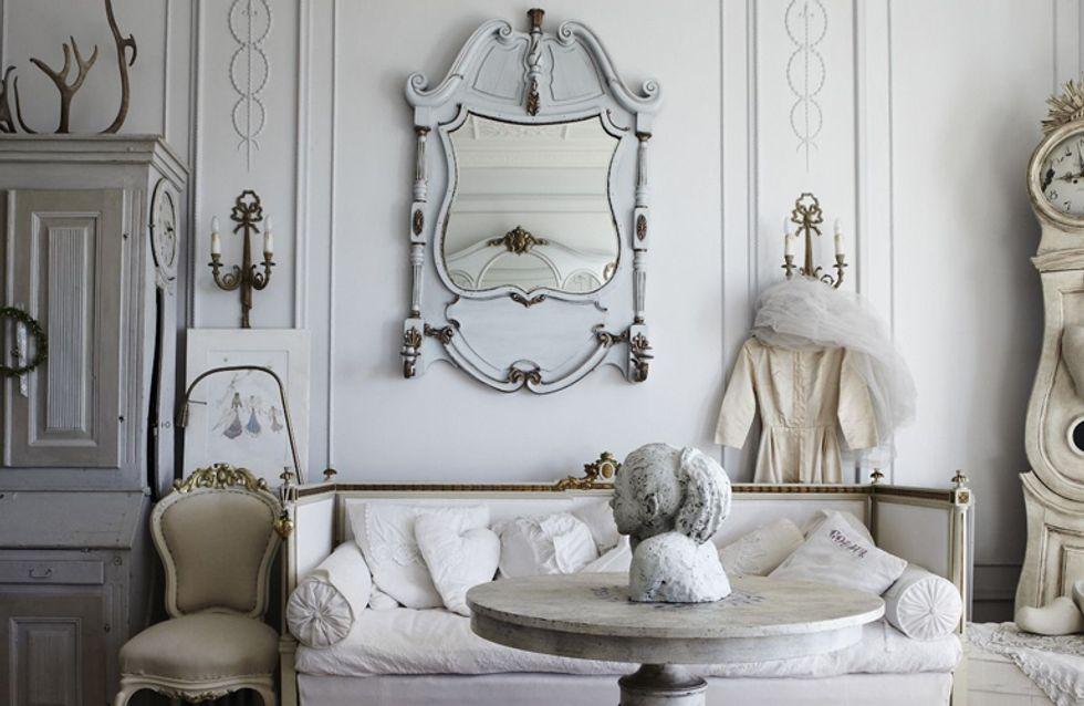 Desain interior vintage dengan pemilihan warna yang ringan dan senada - source: alfemminile.com