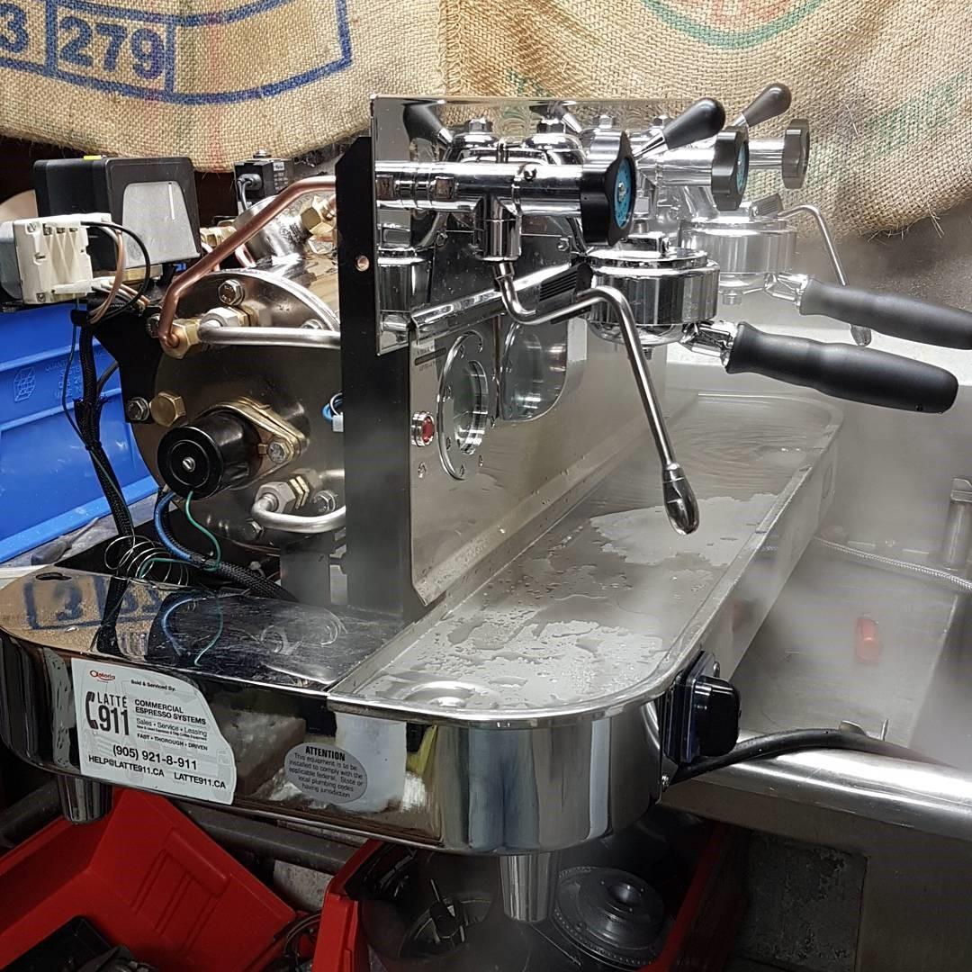 máquina de espresso