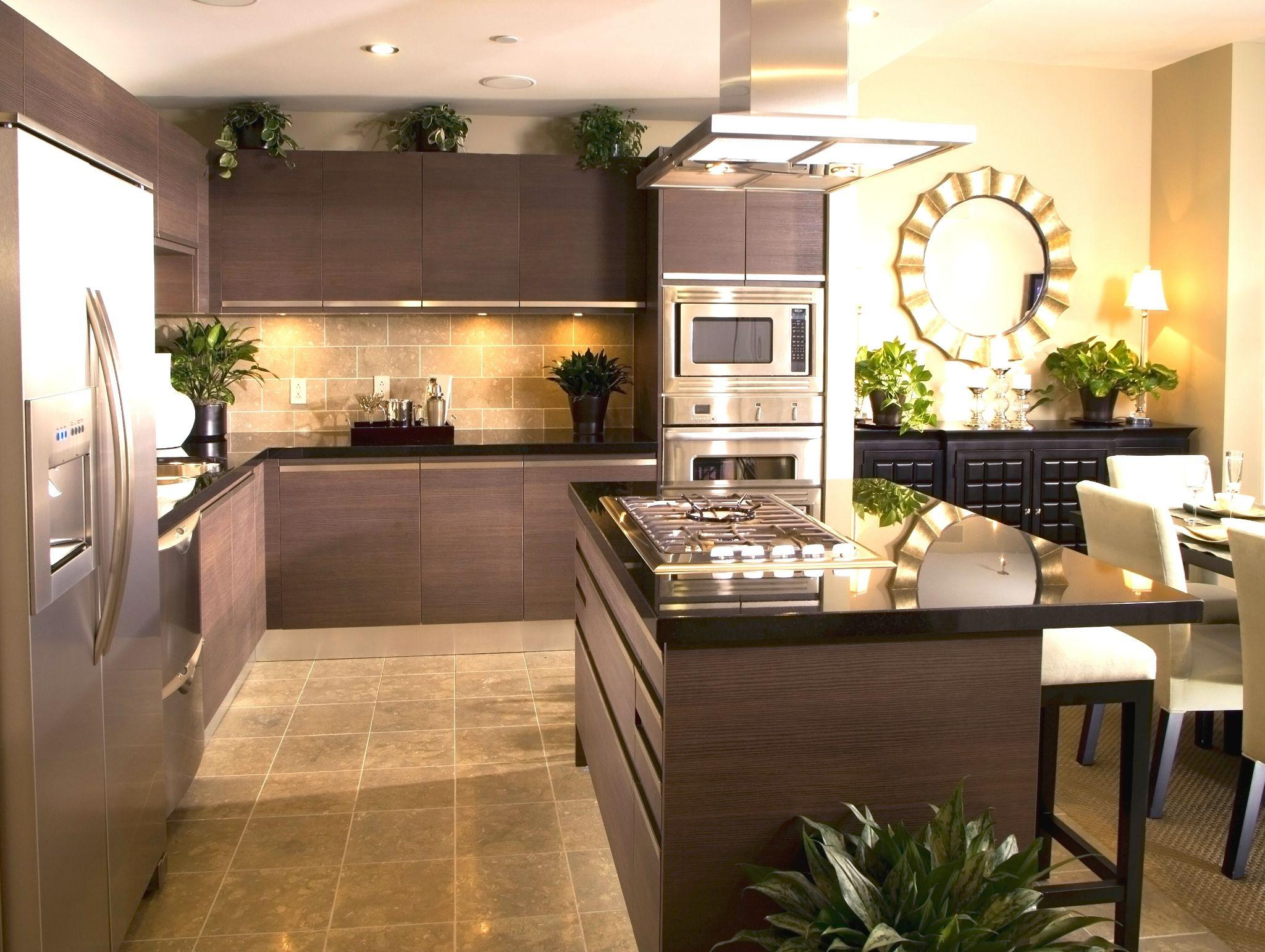 Textured kitchen floor idea