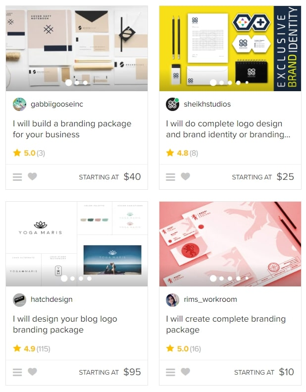 Contract a freelancer on Fiverr to help out with your branding