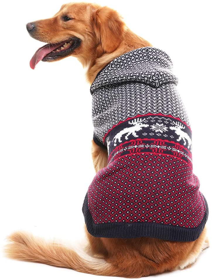 christmas sweaters for large dogs  reindeer sweater