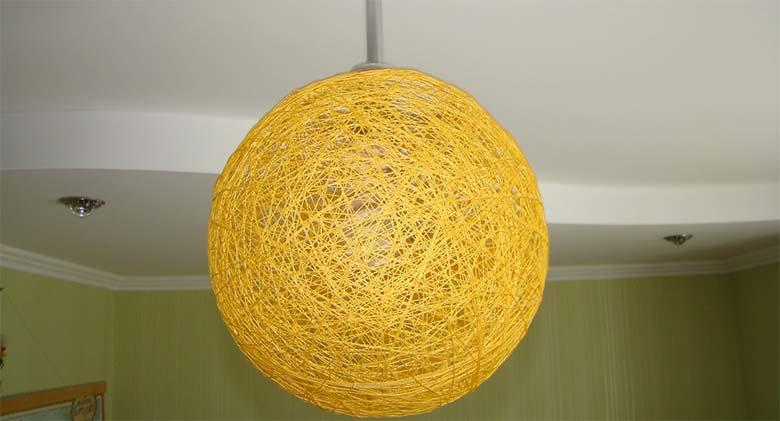 Плетеная люстра