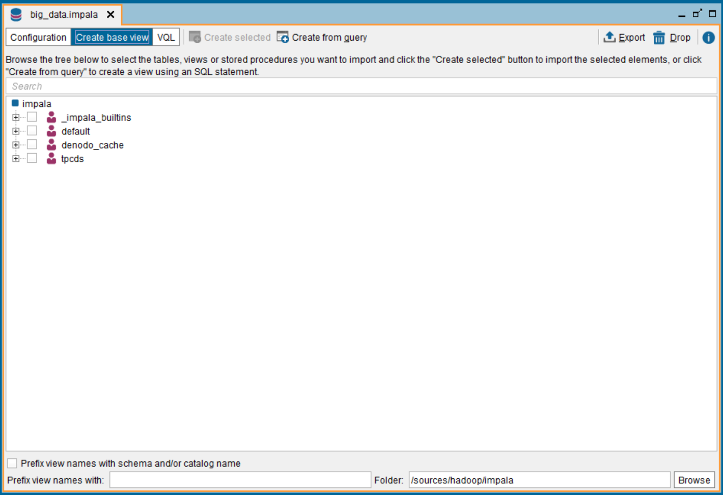 How to connect to Cloudera Impala from the Denodo Platform