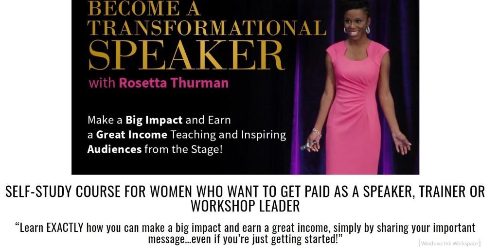 Rosetta Thurman's motivational speaking course