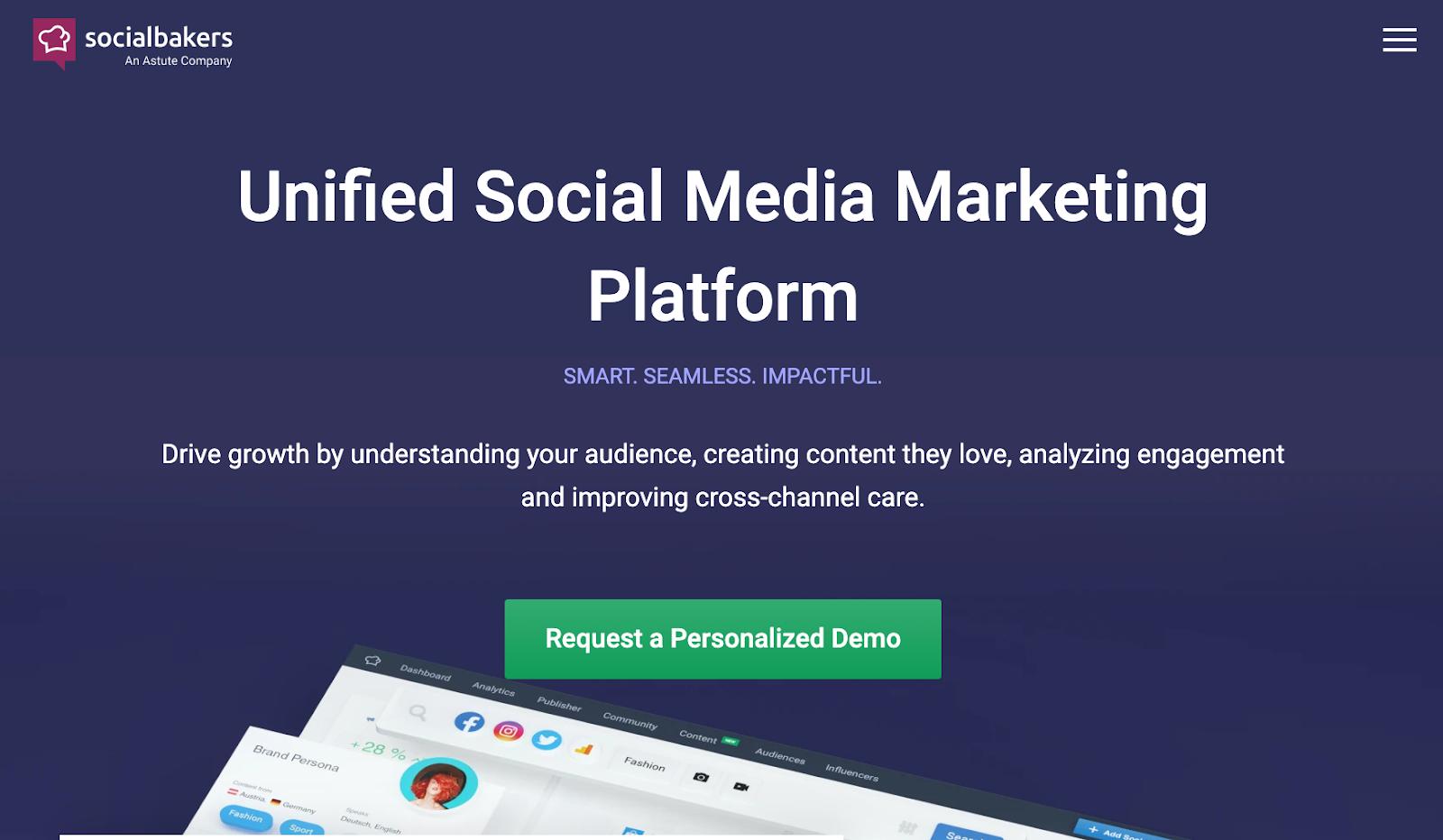 social bakers social media marketing platform