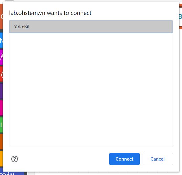 Kết nối Yolo:Bit