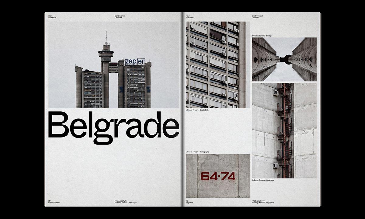 Editorial Design : New Brutalism Controversial Concrete 36