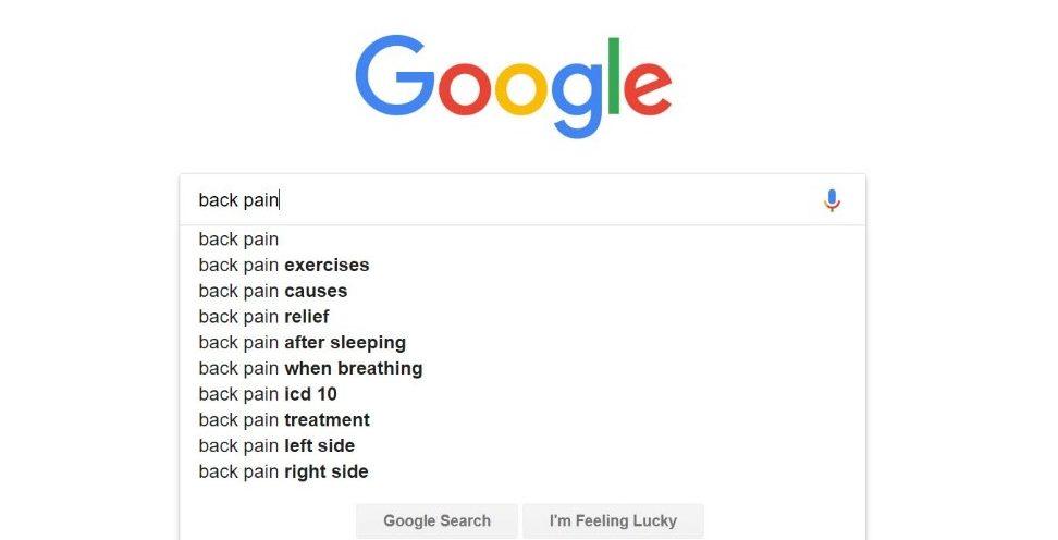 Screenshot of a Google proposal