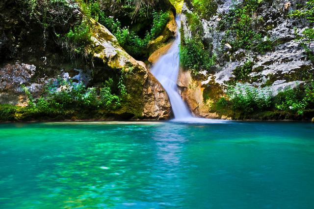 El Necedero del Urederra declarado reserva natural en 1987 se encuentra ubicado en Sierra de Urbasa, Baquedano, Navarra. Foto: Carlos Monteagudo Díaz