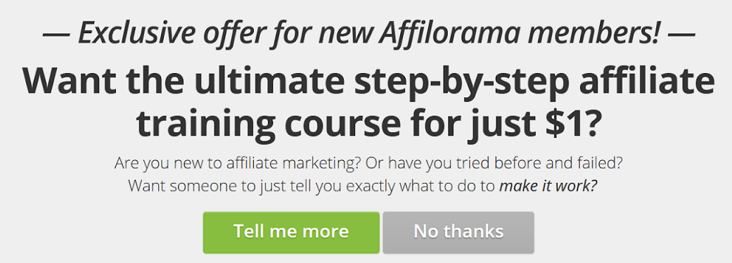 this is a page cover for affilobluepint online affiliate marketing training course for beginners at $1 trial.