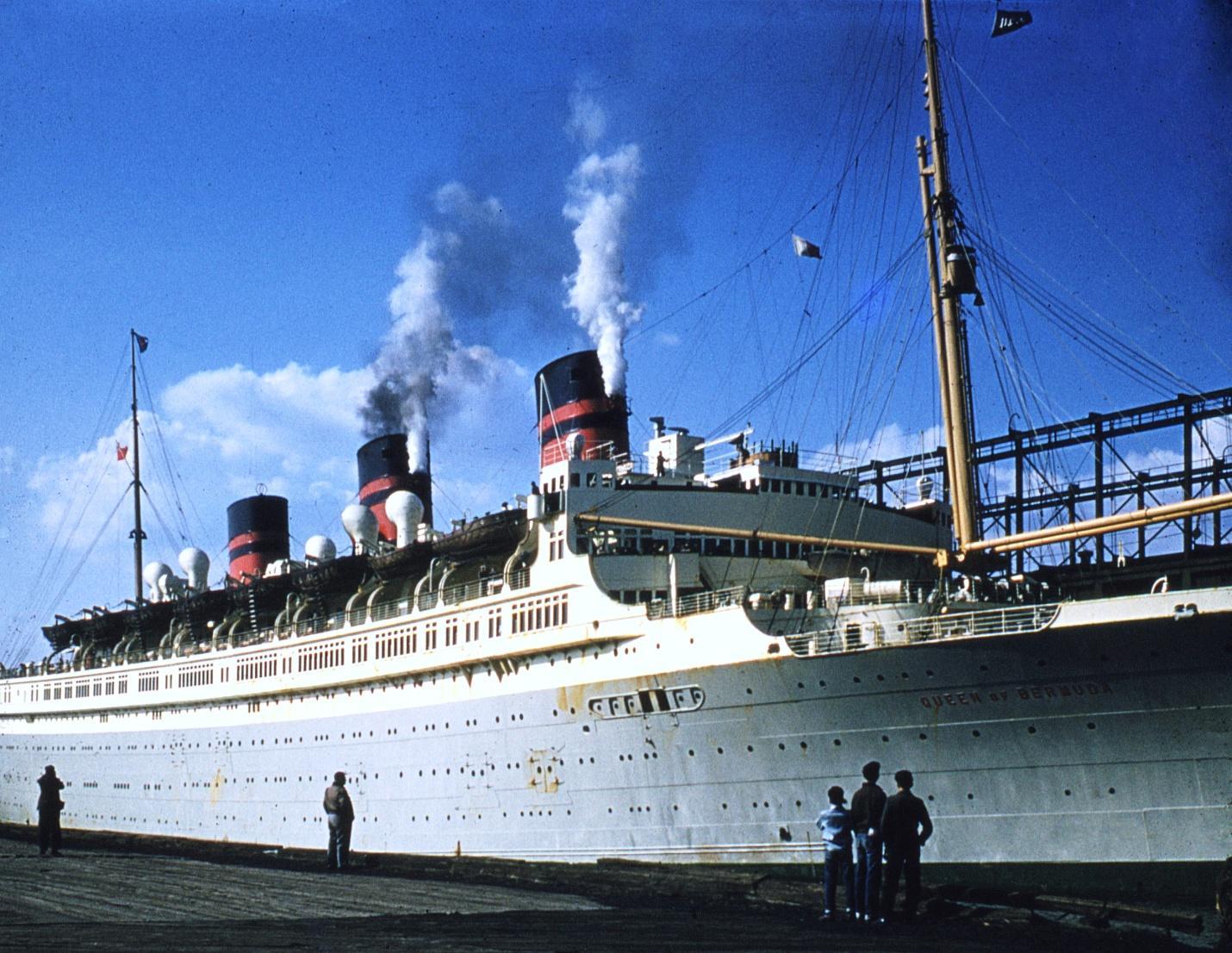 D:\Bill\Pictures\Blue Water color\Blue Water color\New York Harbor Queen of Bermuda.jpg