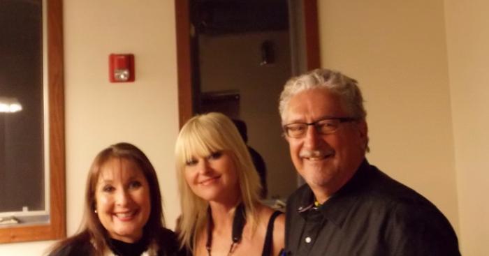 Back stage last Nov at Christmas Tour - my beautiful wife Yolanda , Mindi and me