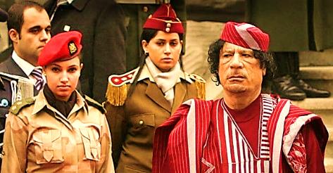 Image result for hình ảnh về những nữ cận vệ của tt gaddafi