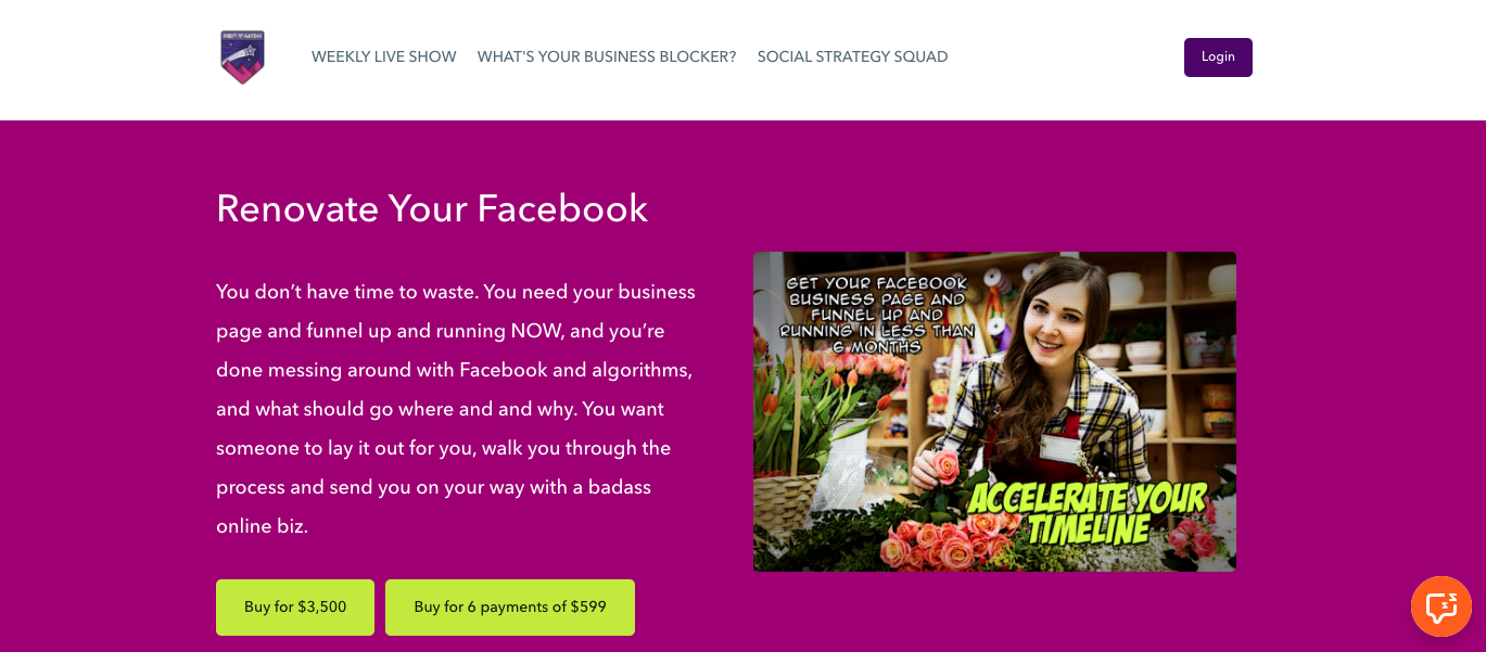 Renovate Your Facebook course description